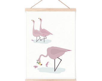 Poster - flamingo | children - nursery | 50x70cm - 19,7 x 27,5 inches