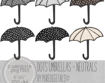 Umbrella Clip Art, Umbrella PNG, Digital Scrapbooking, Scrapbooks, Colored Umbrella, Digital Umbrella, Digital ClipArt, Digital Clip ARt