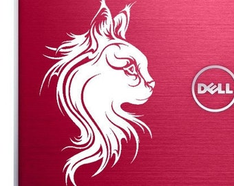 "Maine Coon Cat 7""x 4""  Vinyl Decal"