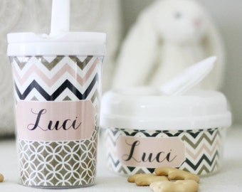 Chevron Personalized Sippy Cup