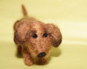 Needle Felted Dachshund Sausage dog Doxie dog
