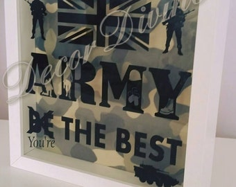 Personalised Army Frame Gift/Soldier Gift/Army Gift/Lieutenant Gift/Barracks/Army Frame/In the Army/Gift for soldier