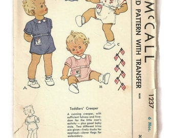 1940s Baby Romper Etsy
