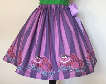 Cheshire Cat, Alice in Wonderland Skirt, All Sizes, Plus Size