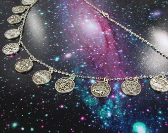 Astrology Necklace, Zodiac Choker, Horoscope Jewelry, Zodiac Necklace, Astrology Jewelry, Zodiac Jewelry, Gifts for Her, Scorpio Necklace