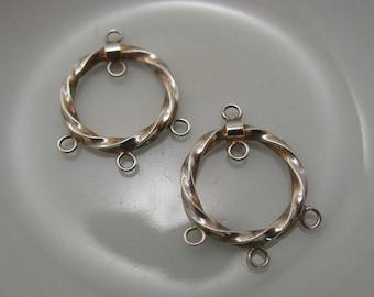 Earrings Chandelier Sterling Silver .925  #7080