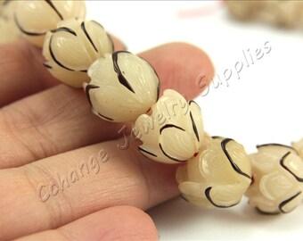 Buri Nut Beads, 5 pcs Buri Seed Beads, (14mm) Natural Buri Beads, Buri Palm Natural Beads, Buri Round Nut Beads, Round Nut Beads, Buri Beads