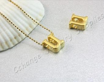 U Gold Letters, 2 pcs Gold Lowercase Letters, Matte Gold Alphabet Letter, 24K Gold Plated Letter, Lowercase Alphabet Letters, Gold Letters