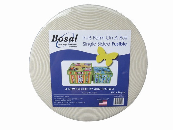 In R Form On A Roll Bosal Single Side Fusible Foam Stabilizer