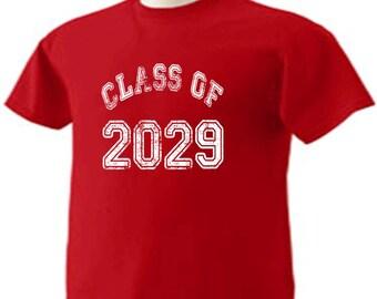 Class Of 2029 T-Shirt Graduation Gift
