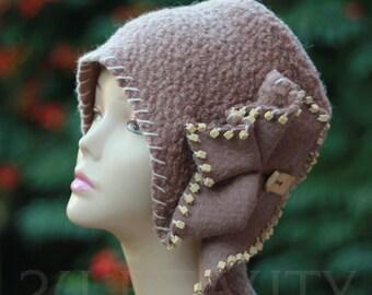Wool hats handmade hat winter hats women's hats gift for women gift for her wool caps  small womens beige hat Luxury Accessories women's