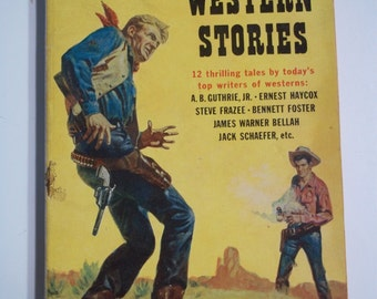 Bar 4 Roundup of Best Western Stories ed. by Scott Meredith Perma Books M-3035 1956 Vintage Paperback