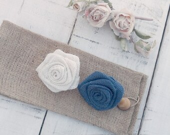 Burlap Tie Back - Curtain Tie Back - Burlap Drape Tie Back - Set of 2 - Rustic Home Decor - Hessian Tie Back - Choose color of burlap rose