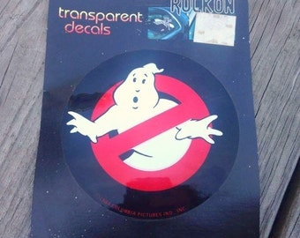 Vintage 1984 Ghostbusters Car Decal, Brand New, Ghostbusters, Car Decal, Transparent Decals, Original Ghostbusters