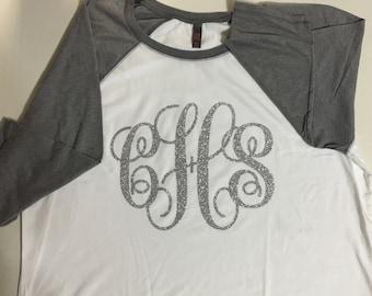 Monogrammed Raglan T-shirt