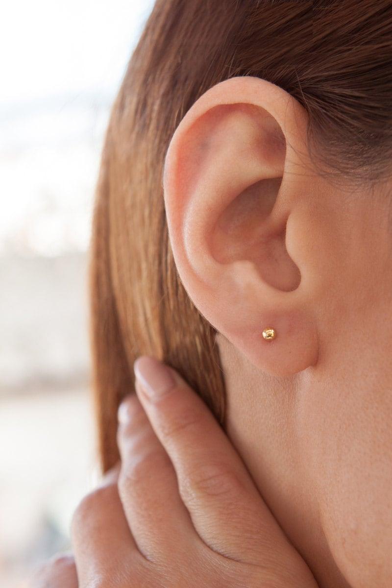 tiny earrings gold earrings gold stud earrings