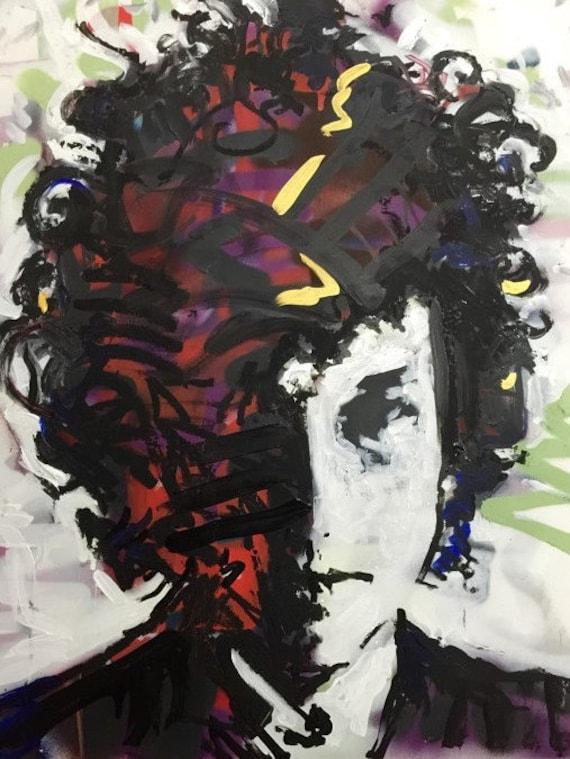 Bob Dylan Painting by artist Matt Pecson Pop Art Painting