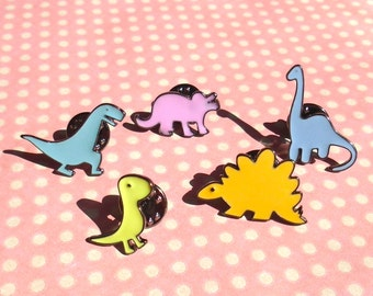 Super cute dinosaur pins