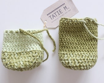 Crochet organic cotton cover for baby bottle