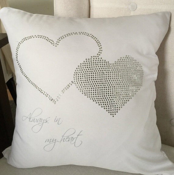 Personalized Butterfly Heart Throw Pillow Cover : Items similar to Custom Throw Pillow Cover - Always in My Heart on Etsy