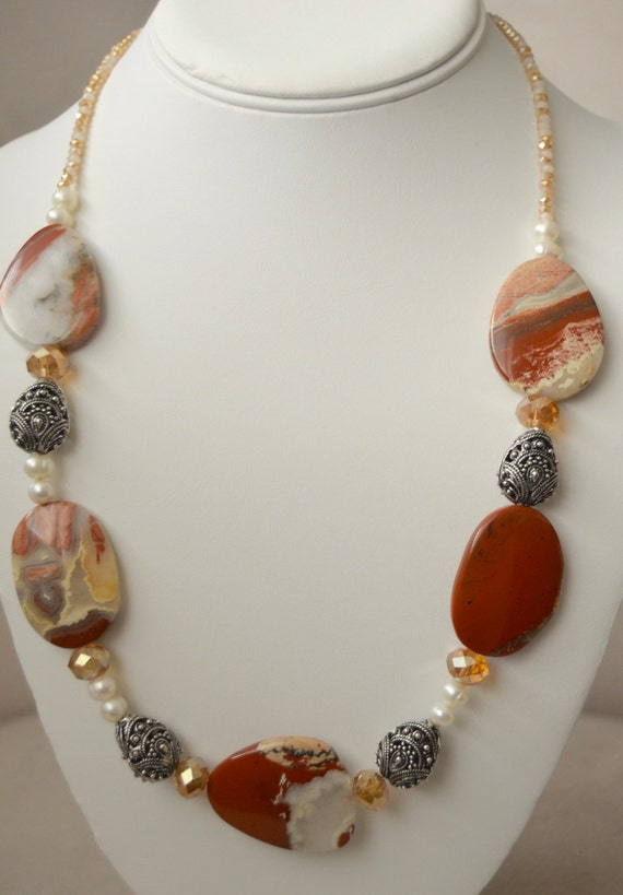 "20"" Red Jasper Necklace"