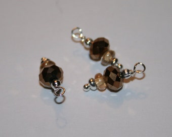 "BC-013 ""Copper Kettle Drum"" beaded charms"