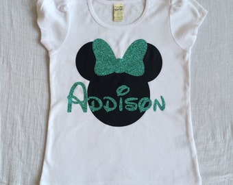 Personalized Minnie or Mickey Shirts