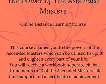 Ascended Masters Online Distance Learning Course, Ascended Master Attunements, Certified Home Study Course, Ascended Masters, Certified