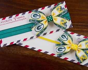 Green Bay Packers  Pinwheel Headband.