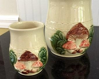 Two Vintage Ceramic Jars Made in Japan