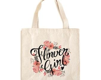 Flower Girl Tote Bag - Flower Girl Bag - Flower Girl Tote