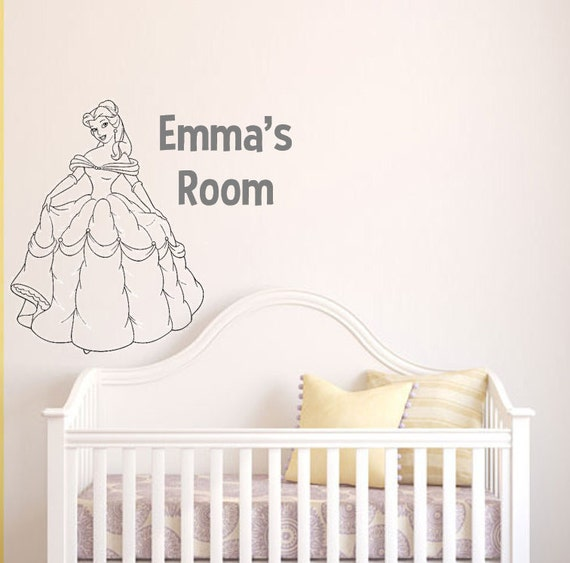 Beauty And The Beast Belle Customizable Wall Decal Vinyl