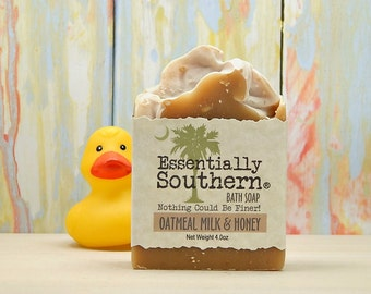 Soap, Oatmeal Milk & Honey Soap, Goat Milk Soap, Oatmeal Soap, Soap Gift, Charleston, SC Gift, Essentially Southern