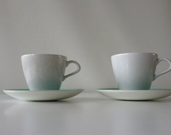 Poole  Twintone cups