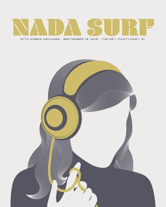 Nada Surf // The Met, RI 16x20 screenprint.