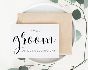 To My Groom Card. Groom Wedding Card. Groom Wedding Day Card. Groom Card. Groom Card From Bride. Wedding Card For Groom. Wedding Cards.