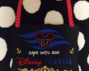 Disney Cruise Countdown Chalkboard