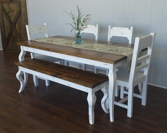 French Country Style Farmhouse Table