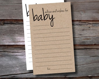 Baby Advice Cards / Baby Shower Game / Sets of 15+