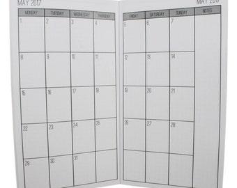 2017 Monthly Planner {Standard Size} Printable Traveler's Notebook Insert Booklet