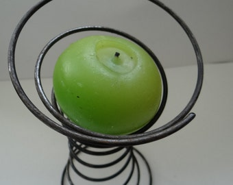 Bed Spring Large Round Candle Holder