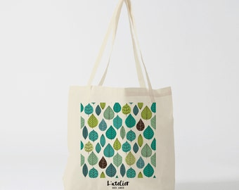 Bag X74Y leaf bread bag, shopping bag, shopping bag, cotton tote bag, Tote, beach bag, bag and luggage bags