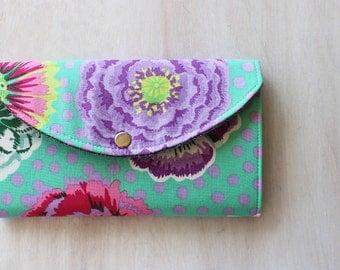 Cash Envelope Wallet, Dave Ramsey, Cash System, Personalized, Coupon Organizer, Vegan Wallet, Floral Fabric