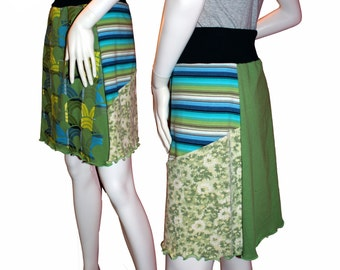 Knit T-Skirt (XL), Eco-Friendly Tshirt Skirts, Repurposed T-Shirt Skirt, Upcycled Skirt