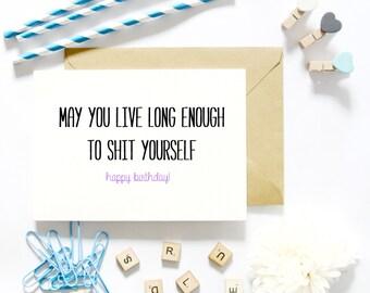 Funny Birthday Card/Getting Older Birthday Card/Aging Birthday Card/Funny Sarcastic Greeting Cards/Birthday Gift Present Ideas
