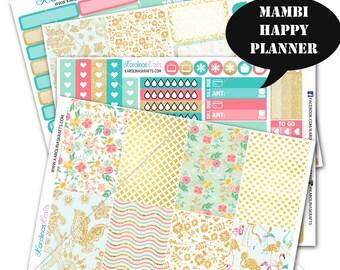 Summer Blossom Planner Sticker Kit 200+ Happy Planner Stickers, Mambi Planner Stickers, Weekly Planner Kit, Monthly Planner #SQ00234-MHP