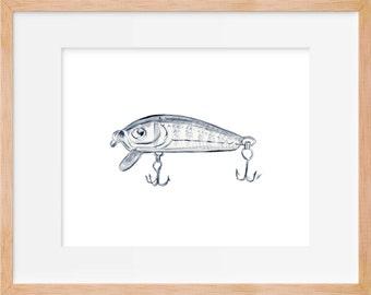 Fishing Lure 108 Print Hook Fishing Decor Fishing Print Hunting And Fishing