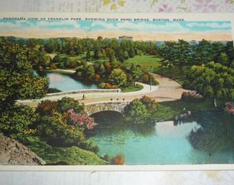 Franklin Park View, Showing Duck Pond Bridge, Boston, Massachusetts