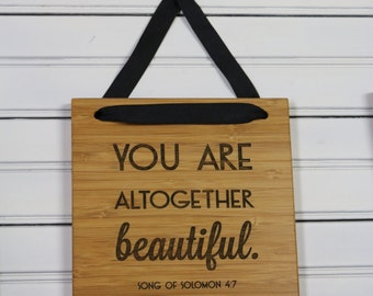 Altogether Beautiful//Bamboo Sign