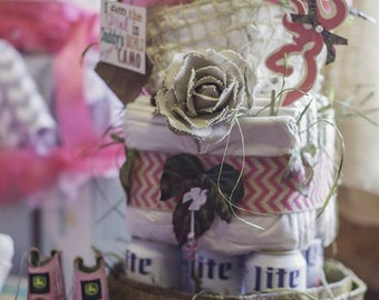 Daddy's Lil' Hunter Diaper Cake